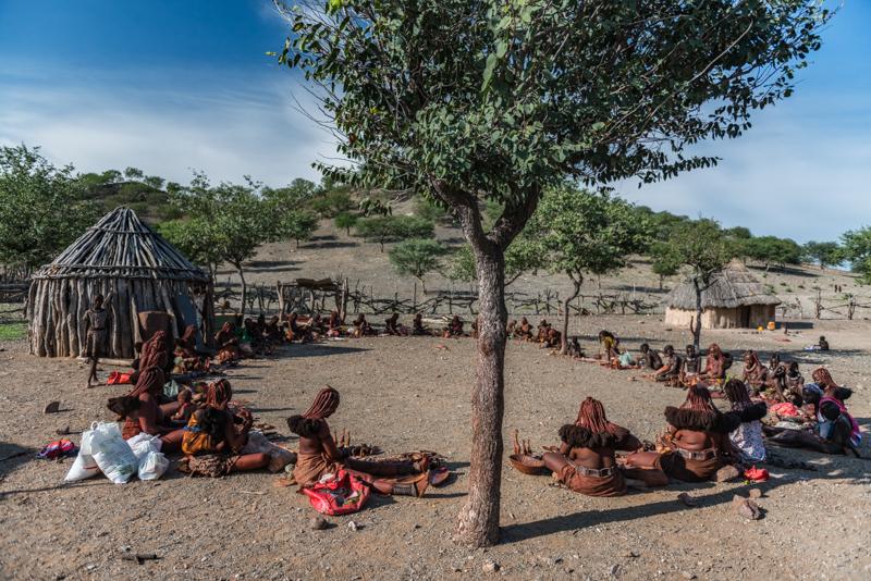 W wiosce Himba