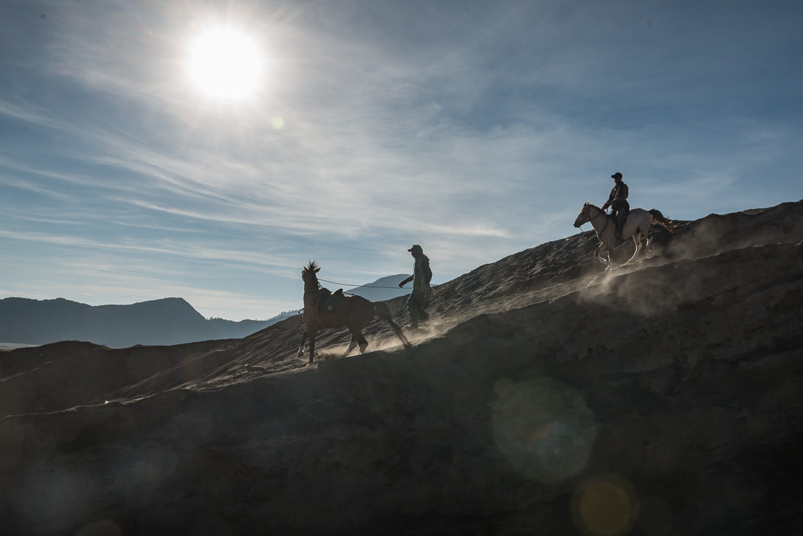 Podczas wejścia na wulkan Bromo