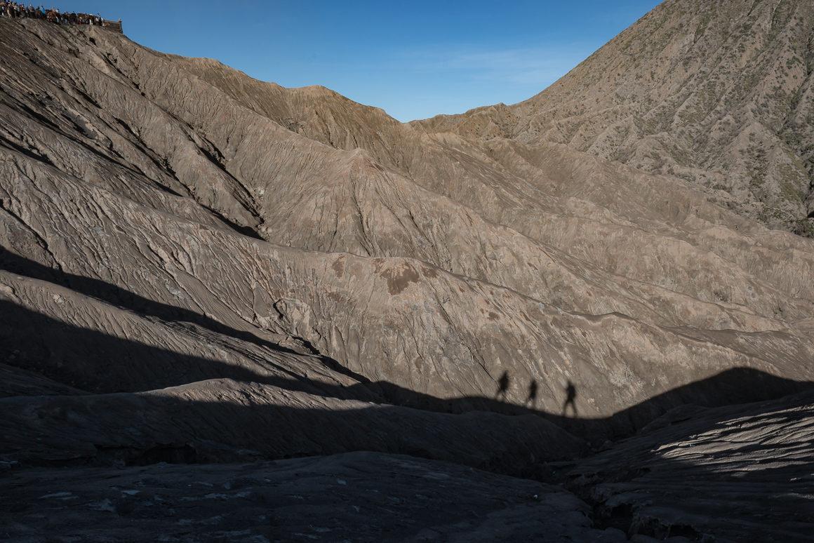 Nasze cienie na krawędzi wulkanu Bromo