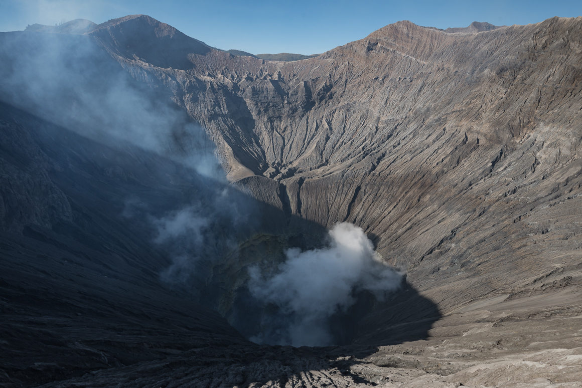 Wnętrze krateru Bromo