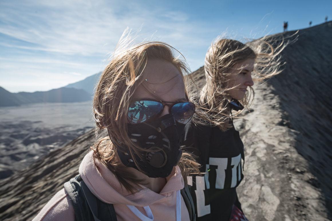 Martyna i Alicja na kraterze Bromo