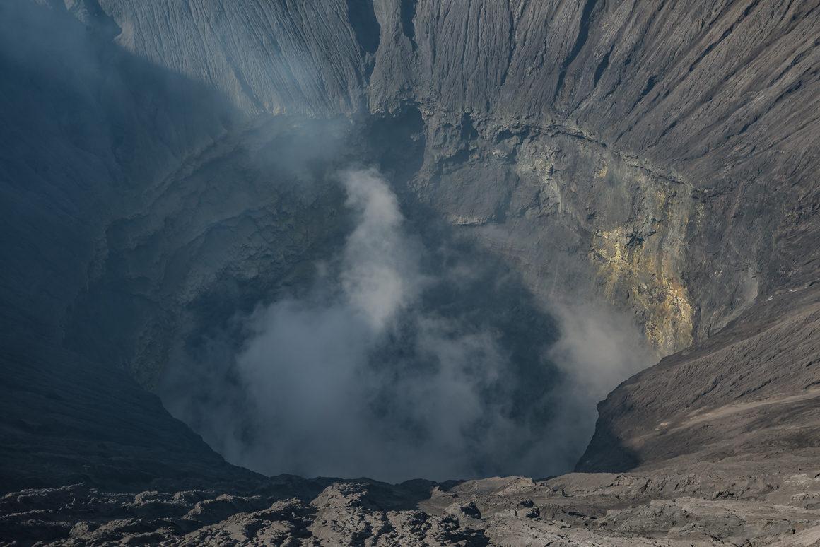 Wnętrze wulkanu Bromo