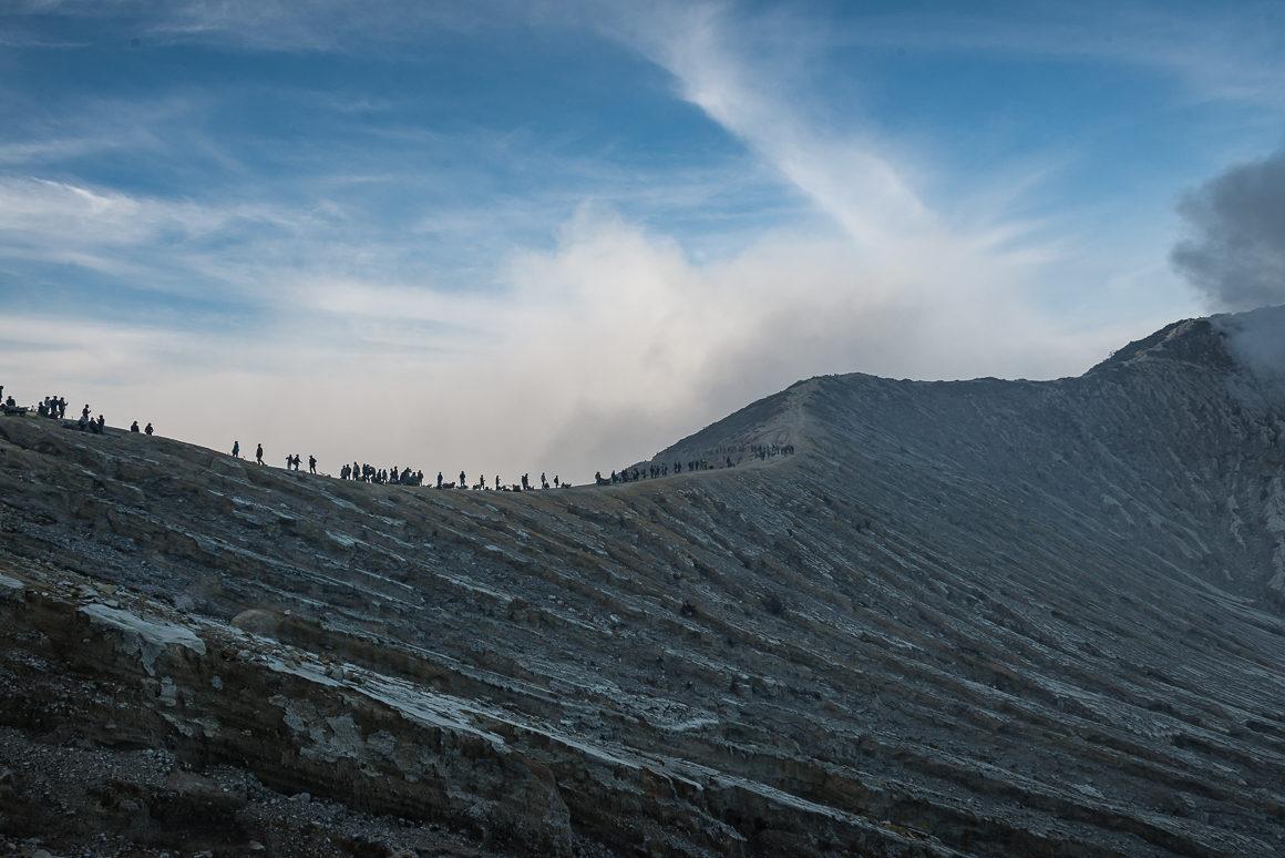 Wyprawa na Ijen - krawędź wulkanu