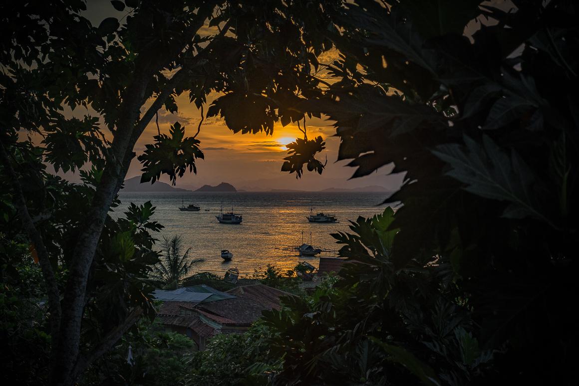 Zachód słońca na Lombok
