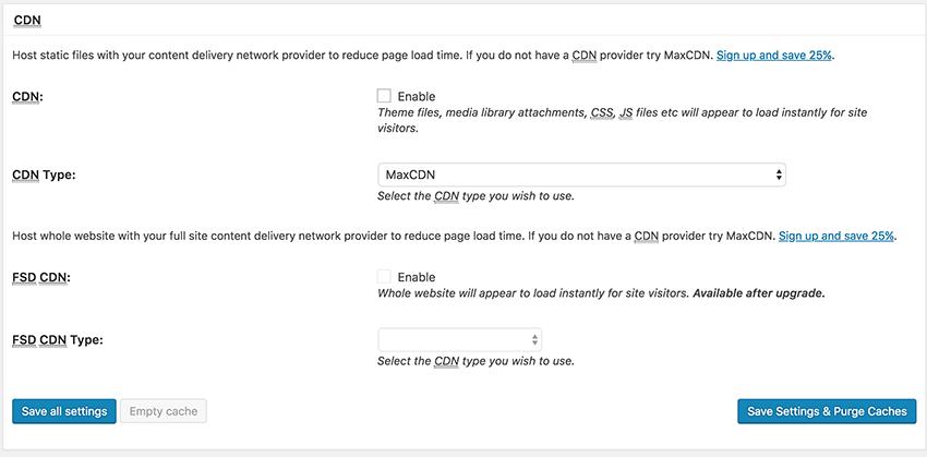 W3 Total Cache - General settings - CDN