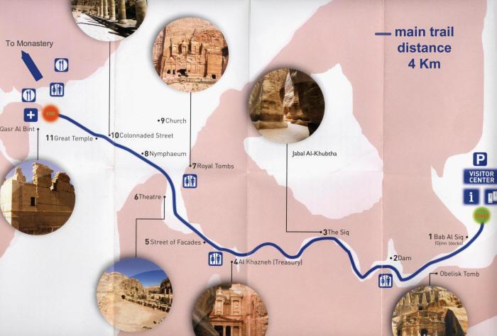 Petra, Jordania - główny szlak
