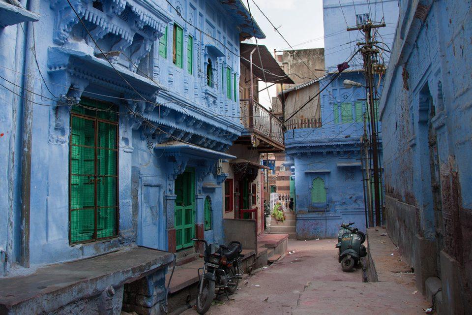 Błękitne ulice Jodhpuru.